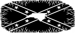 Confederate Rebel Battle Flag North Carolina