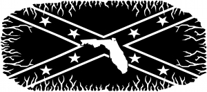 Confederate Rebel Battle Flag Florida Country car-window-decals-stickers