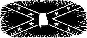 Confederate Rebel Battle Flag Alabama