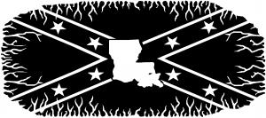 Confederate Rebel Battle Flag Louisiana