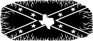 Confederate Rebel Battle Flag Texas