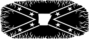 Confederate Rebel Battle Flag Arkansas Country car-window-decals-stickers
