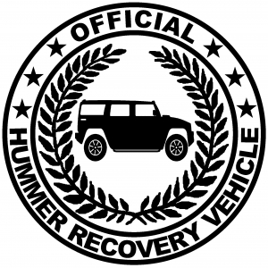 Official Hummer Recovery Vehicle Off Road car-window-decals-stickers