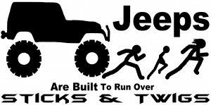 Jeep Running Over Stick Family Off Road car-window-decals-stickers