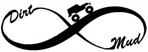 Jeep Infinity Sign with Dirt and mud Off Road car-window-decals-stickers