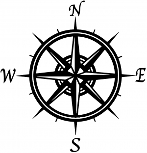 compass rose car or truck window decal sticker - rad dezigns