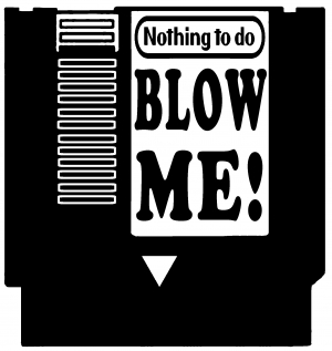 Nintendo Nes Cartridge Game Blow Me