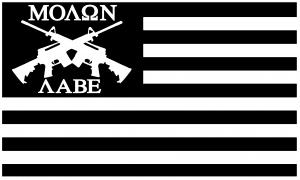 Molon Labe American Flag AR 15 Guns