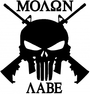 Molon Labe Punisher Skull AR 15 Guns