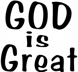 God Is Great Christian car-window-decals-stickers