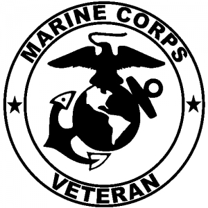Marine Corps Veteran Seal Car or Truck Window Decal Sticker - Rad Dezigns