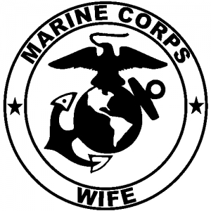 Marine Corps Wife Seal Military car-window-decals-stickers