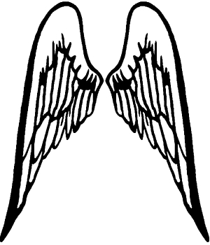 Angel Wings Christian car-window-decals-stickers