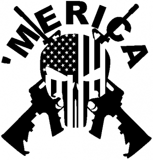 Merica punisher skull flag crossed ar15 car or truck window decal merica punisher skull flag crossed ar15 car or truck window decal sticker rad dezigns publicscrutiny Gallery