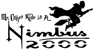 My Other Ride Is a Nimbus 2000 Harry Potter Broom Sci Fi car-window-decals-stickers
