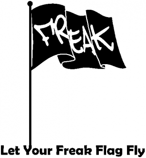 Let Your Freak Flag Fly Funny car-window-decals-stickers