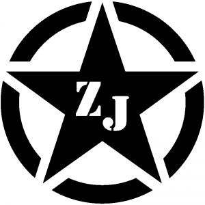 Military Jeep ZJ Segmented Star Off Road car-window-decals-stickers