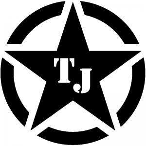 Military Jeep TJ Segmented Star Off Road car-window-decals-stickers