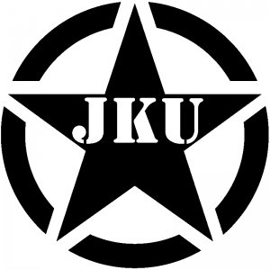 Military Jeep JKU Segmented Army Star Car Or Truck Window Decal - Military window decals for cars