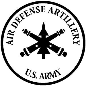 US Army Air Defense Artillery Vinyl Decal
