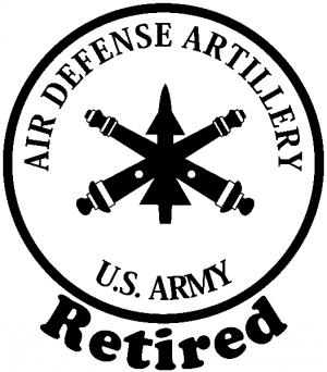 US Army Air Defense Artillery Retired