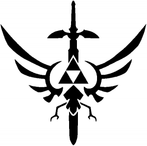 Legend of Zelda Triforce Masterword Sci Fi car-window-decals-stickers