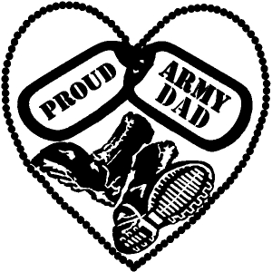 Proud Army Dad Dog Tags Heart Combat Boots