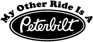 My Other Ride Is A Peterbilt Moto Sports car-window-decals-stickers
