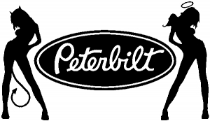 Peterbilt With SExy Mudflap Angel Devil Good and Bad Girls Moto Sports car-window-decals-stickers