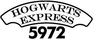 Hogwarts Express Harry Potter Sci Fi car-window-decals-stickers