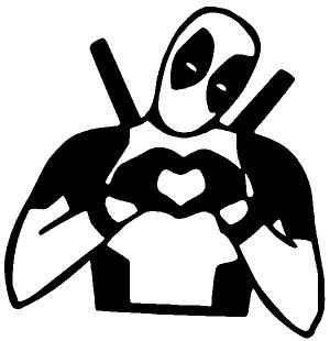 Deadpool Hand Heart Love