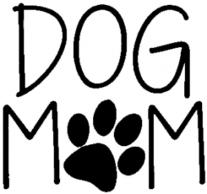 Dog Mom with Paw Print Animals car-window-decals-stickers