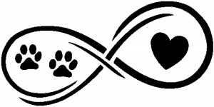 Infinity Paws Heart Dog or Cat Love Animals car-window-decals-stickers