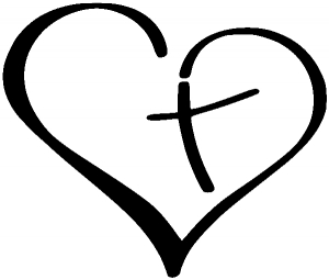 Heart with Cross Inside Christian car-window-decals-stickers