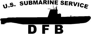Balao Class Submarine Service Military car-window-decals-stickers