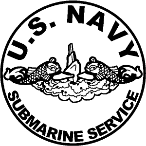 US Navy Submarine Service Dolphins In Circle Military car-window-decals-stickers