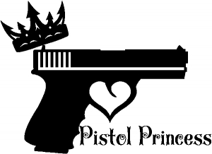Pistol Princess with Crown and Gun for Women Girl Guns car-window-decals-stickers