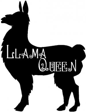 Llama Queen With Llama Silhouette  Animals car-window-decals-stickers