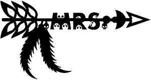 MRS Tribal Skull Arrow with Feathers Skulls car-window-decals-stickers