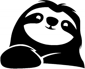 Happy Sloth  Animals car-window-decals-stickers