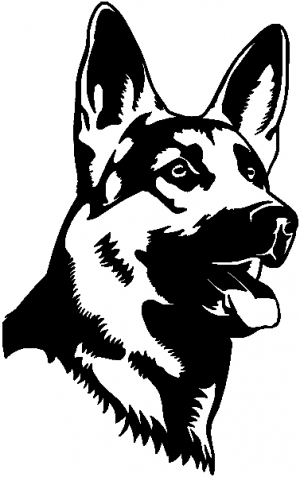 German Shepherd Dog Animals car-window-decals-stickers