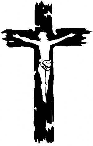 Jesus on the Cross Christian car-window-decals-stickers