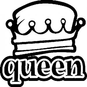 Queen Girlie car-window-decals-stickers