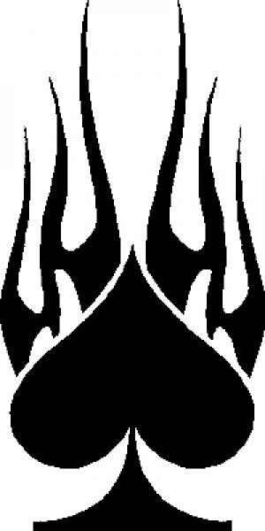 Flaming Spade