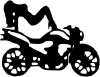 Sexy Chic on Motorcycle Sexy car-window-decals-stickers