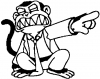 Evil Monkey Cartoons car-window-decals-stickers