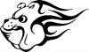 Flaming Georgia Bulldog (Dawg)