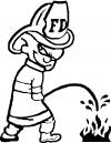 Fireman Peeon Fire