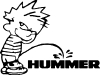 Pee on Hummer Pee Ons car-window-decals-stickers