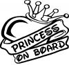 Princess On Board Girlie Car Truck Window Wall Laptop Decal Sticker